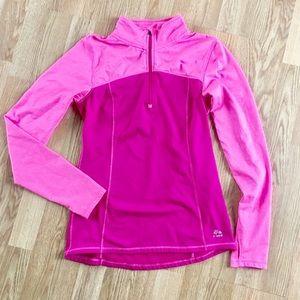 RBX fleece lined half zip fuchsia/pink